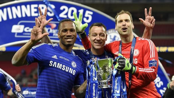 John Terry, centre, admits goalkeeper Petr Cech, right, would be sorely missed if he left the club.