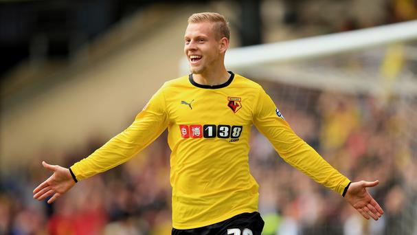 Striker Matej Vydra has completed a permanent move from Udinese to Watford