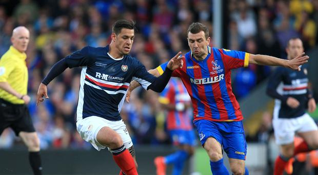 James McArthur, right, has signed a new deal with Crystal Palace