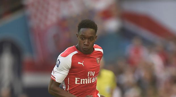 Arsenal forward Danny Welbeck continues his recovery from a knee problem