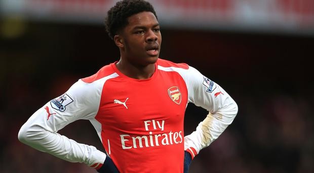 Arsenal forward Chuba Akpom scored a hat-trick in the tour match against a Singapore XI.
