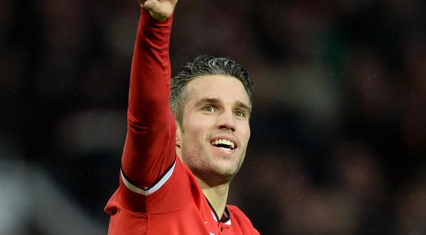 Robin van Persie during happier times at Manchester United