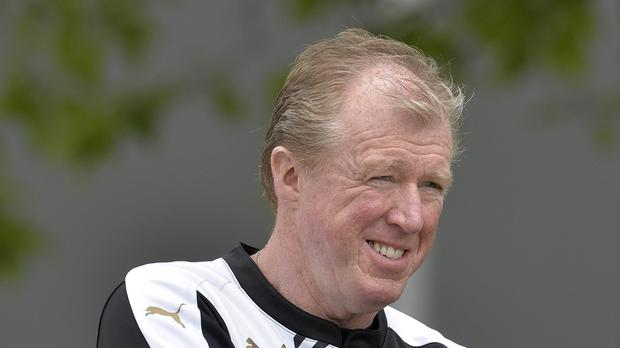 Newcastle manager Steve McClaren, pictured, has added Aleksandar Mitrovic to his squad