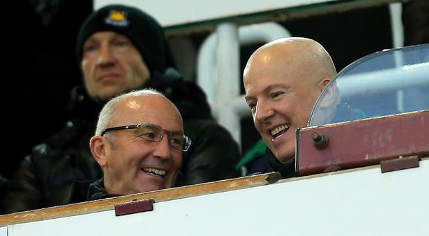 West Brom chairman Jeremy Peace, pictured right alongside manager Tony Pulis, has suspended talks with a potential buyer