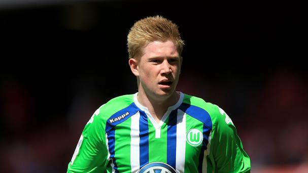 Wolfsburg's Kevin De Bruyne is reportedly attracting the attention of Manchester City
