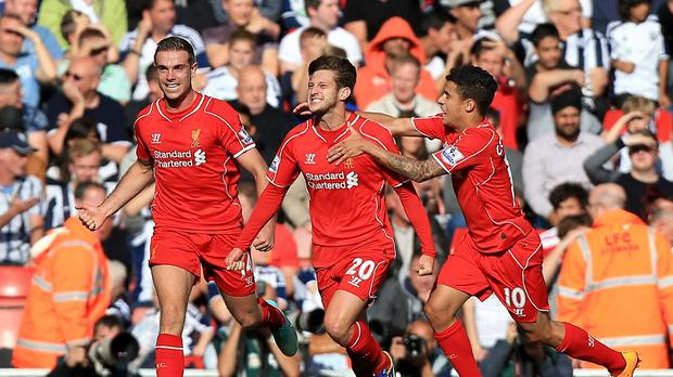 Jordan Henderson, left, is expecting big things from Adam Lallana, centre, next season