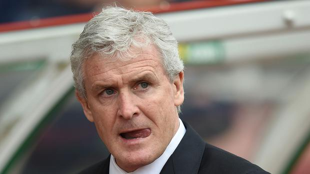 Mark Hughes, pictured, is set to be frustrated in his pursuit of Nice's Alassane Plea