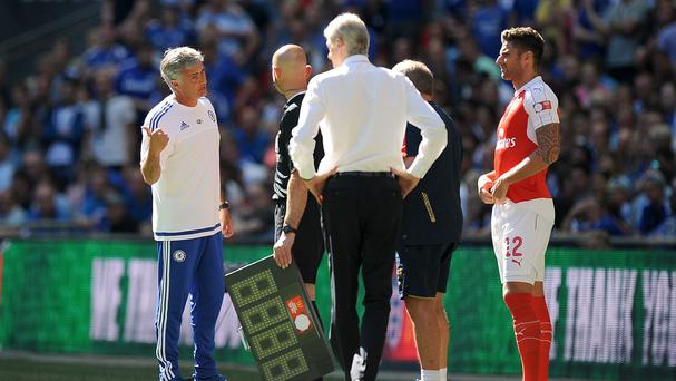 Chelsea manager Jose Mourinho, left, has welcomed plans to combat abuse of match officials