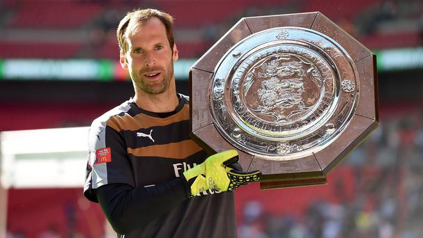 Goalkeeper Petr Cech helped Arsenal beat his old side Chelsea in the FA Community Shield