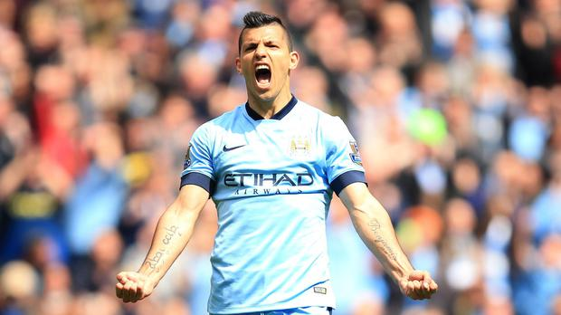 Illness prevented Manchester City's Sergio Aguero collecting his player of the year prize