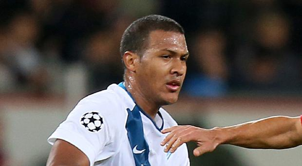 Zenit St Petersburg's Salomon Rondon, left, is a target for West Brom boss Tony Pulis