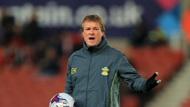 Assistant Erwin Koeman is set to lead Southampton at Newcastle