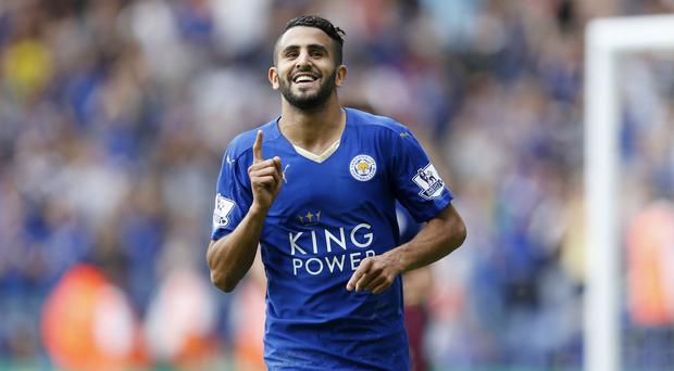 Riyad Mahrez scored twice as Leicester kicked off the new Premier League season with victory over Sunderland