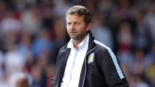 Aston Villa manager Tim Sherwood, pictured, is close to signing Barcelona's Adama Traore