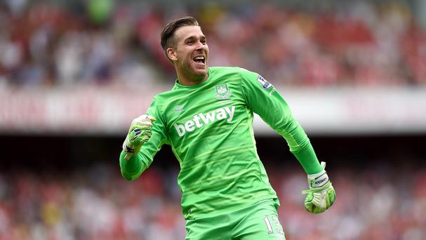 Adrian kept a clean sheet as his West Ham side won at Arsenal on Sunday