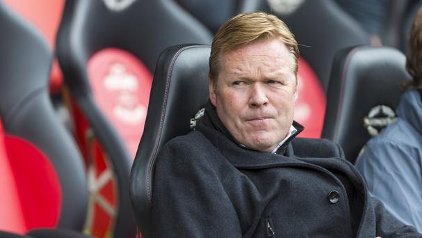 Manager Ronald Koeman will return to the Southampton bench on Saturday against Everton