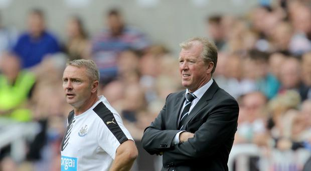 Newcastle head coach Steve McClaren, right, is hopeful of further summer signings