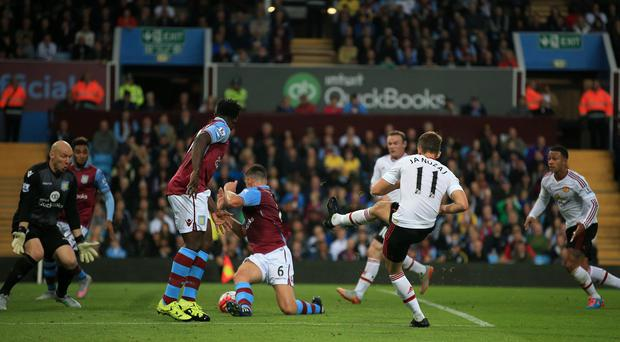 Manchester United's Adnan Januzaj scored their winner in the 1-0 victory at Aston Villa