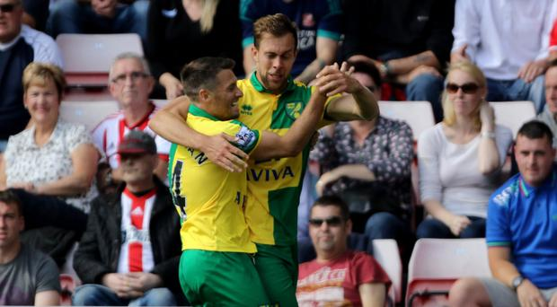 Wes Hoolahan (left) pulled the strings as Sunderland crumbled to another defeat