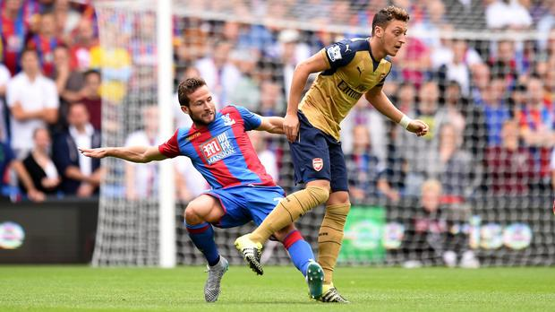 Mesut Ozil, right, shone in Arsenal's defeat of Crystal Palace