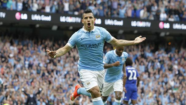 Sergio Aguero scored as Manchester City beat Chelsea convincingly