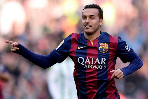 High aims: Pedro has set his sights on firing Chelsea to the Premier League title after joining in a £21.4m deal from Barcelona