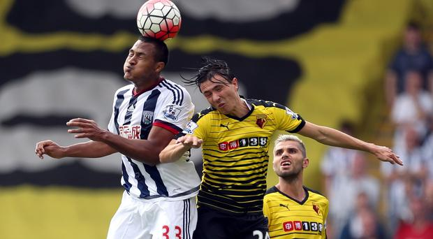 Watford's Steven Berghuis, centre, is one of many new arrivals at the club