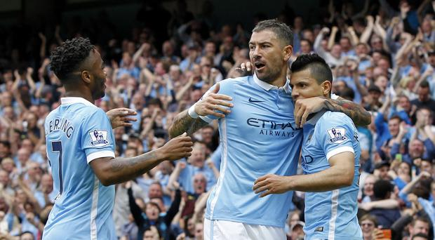 Manchester City are chasing a ninth successive league win this weekend