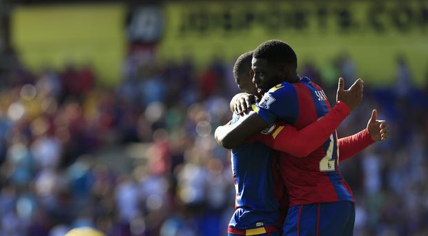 Bakary Sako, right, scored the winner for Crystal Palace