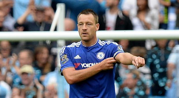 John Terry, right, during Chelsea's 3-0 defeat at Manchester City last week