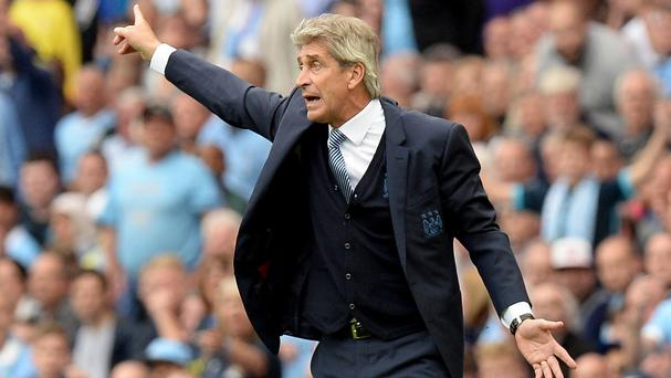 Manuel Pellegrini's City side defeated Everton 2-0