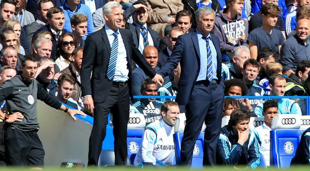 Alan Pardew, left, believes Jose Mourinho's Chelsea can be better this season than last