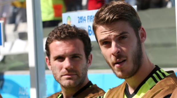Juan Mata, left, has no concerns over David de Gea