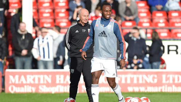 Tony Pulis, left, says Saido Berahino will play for West Brom again but must 'grow up'