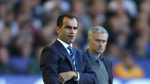 Everton manager Roberto Martinez, left, does not believe Jose Mourinho's Chelsea side are in crisis