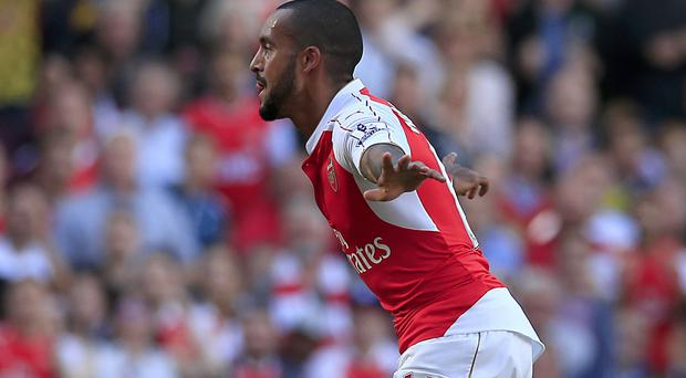 Theo Walcott scored the opening goal for Arsenal