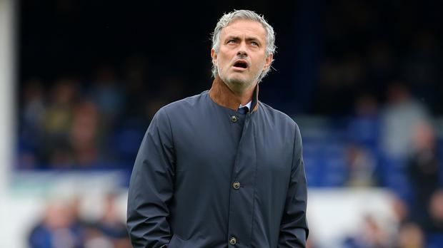 Chelsea manager Jose Mourinho claimed not to be feeling the heat after heavy defeat at Everton