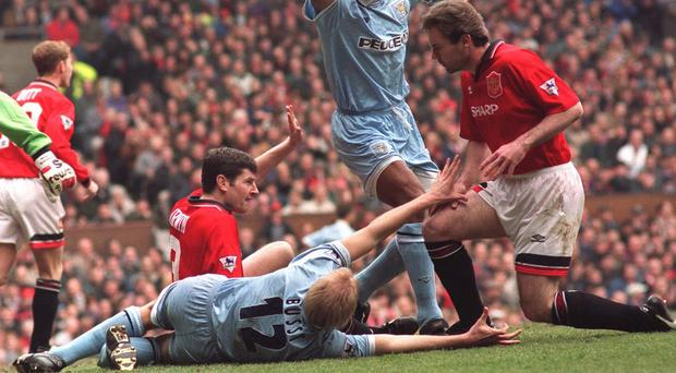 David Busst broke his leg at Old Trafford in 1996