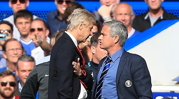 Chelsea manager Jose Mourinho (right) and Arsenal manager Arsene Wenger (left) clashed on the touchline at Stamford Bridge last season.