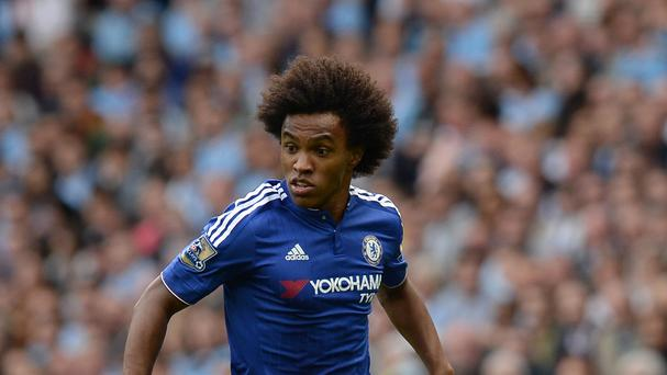 Willian will miss Chelsea's clash with Arsenal