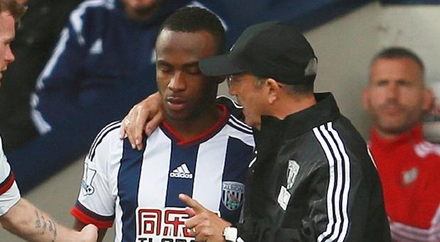 Saido Berahino, left, has been reintegrated into the West Brom squad by boss Tony Pulis