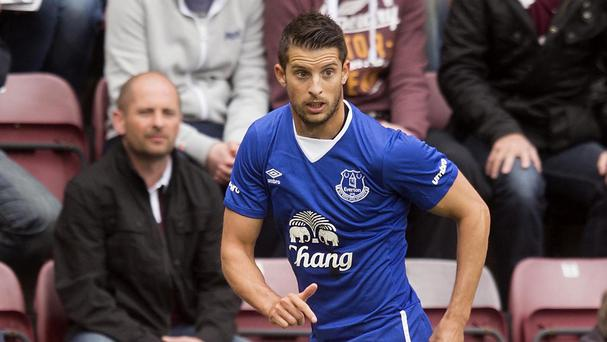 Everton's Kevin Mirallas had only been on the pitch 112 seconds when he received a red card