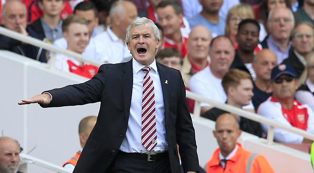 Mark Hughes was not happy after his Stoke side were held at home by Leicester.