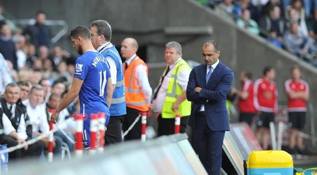 Kevin Mirallas had been on the pitch for less than two minutes when he was dismissed