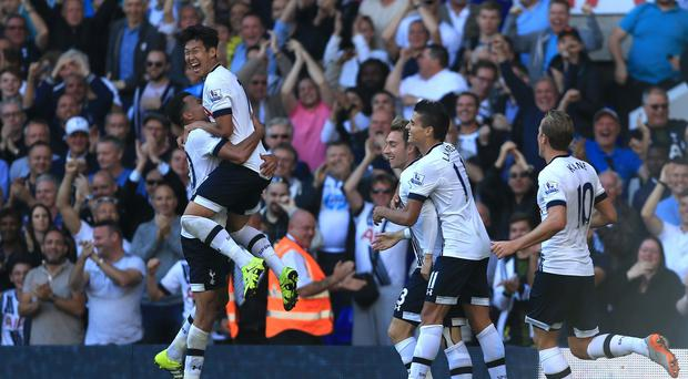 Son Heung-min, pictured top left, is quickly endearing himself to the Tottenham faithful