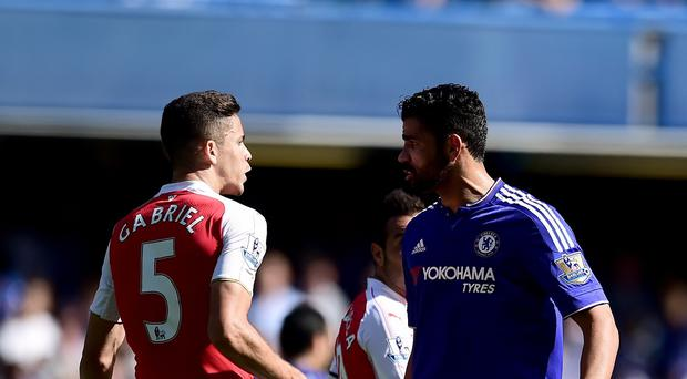 Chelsea's Diego Costa, pictured right, can expect to find out on Monday if he will face retrospective action from the Football Association