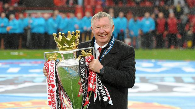 Sir Alex Ferguson won his final Premier League title with Manchester United in 2013