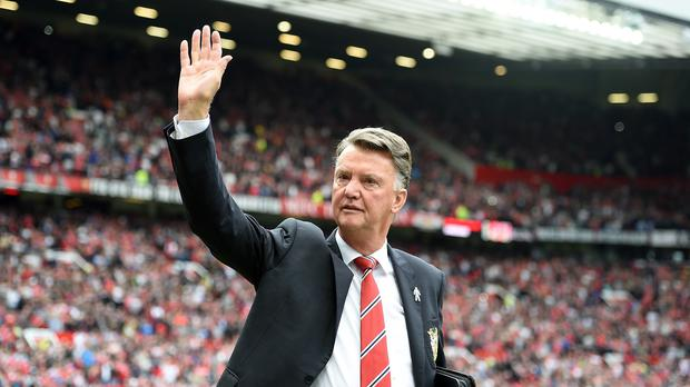 Manchester United manager Louis van Gaal saw his team climb to the top of the Premier League