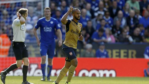 Theo Walcott scored Arsenal's opener in their 5-2 win at Leicester
