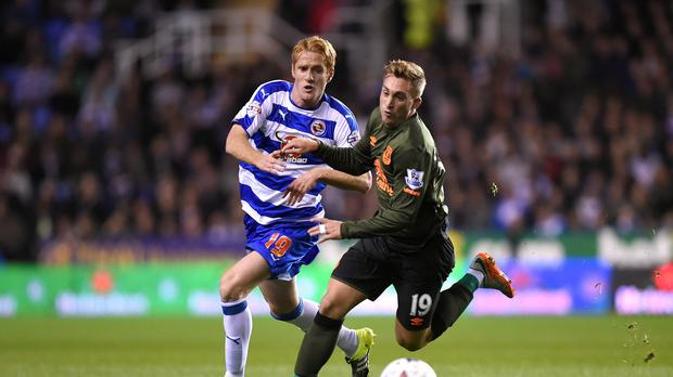 Everton's Gerard Deulofeu, right, scored their winning goal away to Reading